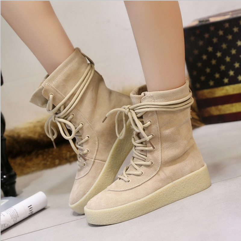 2017 Autumn and Winter New Leisure Fashion Womens Boots with Frosted Lace-in Snow Boots In The Tube Womens Shoes<br><br>Aliexpress