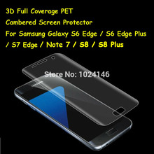 3D Curved Cambered Full Coverage Soft PET Film Screen Protector For Samsung Galaxy S8 S8+ S6 S7 Edge Plus (Not Tempered Glass)