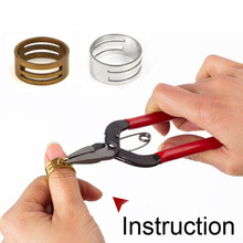 1PC Metal Jump Ring Opener Opening Closing Finger Ring Alloy Round Circle Bead Plier DIY Accessories Jewelry Finding Making Tool