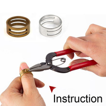 2PC Metal Jump Ring Opener Opening Closing Finger Ring Alloy Round Circle Bead Plier DIY Accessories Jewelry Finding Making Tool(China)
