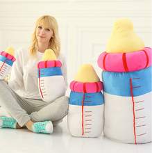 Creative Plush Toy Cute Baby Bottle/Milk Bottle Shape Cushion Stuffed Pillow Home Decoration(China)