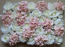 10pcs/lot Artificial silk hydrangea peony rose flower wall wedding background decoration lawn/pillar market decoration TONGFENG