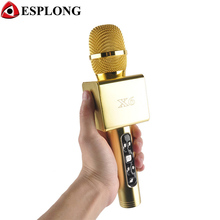 2017 NEW X6 Bluetooth Wireless Karaoke Microphone Professional Player HIFI Speaker Mic With Carring Case For Iphone Android