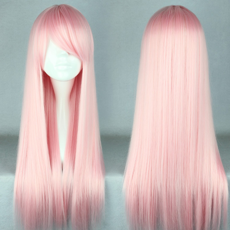 MCOSER Free Shipping 70cm Long Light Pink  Beautiful lolita wig Anime Wig<br><br>Aliexpress