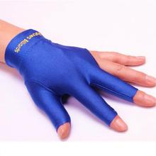 New Hot 1pc Spandex Snooker Billiard Cue Glove Pool Left Hand Open Three Finger Glove Fitness Accessory free shipping(China)