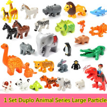 20Pcs/set Duplo Animal Series Large Particle Building Blocks Zoo Set Kids Toys DIY Brick Compatible lego Duplo