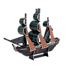 3D Puzzle Boat The Black Pearl Ship Paper Model Jigsaws DIY Educational Children Kids Assemble Toy Gift Decor