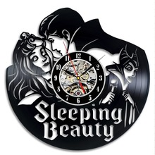 Sleeping Beauty Vinyl Record Clock Wall Art Home Decor Room Design