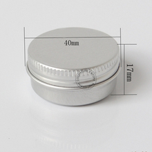 (50pieces/lot)12g Aluminum Jar empty Cosmetic Container tin Refillable Aluminum Vials lip balm container