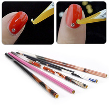 New 2PCs Wax Picker Pen Pencil Picking Tools for Rhinestones Gems Crystal Nail Art Crystal Bead Decorations Dotting Pens