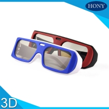 Free Shipping,5pcs Circular Polarized passive Reald 3d glasses Cheap 3D Glasses For DVD Movie Game,3D TVs and 3D Cinema System(China)
