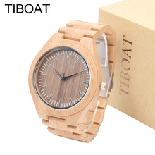 Buy TIBOAT Mens Watches New Top Brand Luxury Bamboo Wood Sport Male Quartz Watches Men Casual clock Men Wristwatch for $39.99 in AliExpress store