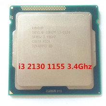 INTER DUAL CORE i3 2130 cpu 3.4ghz 3M cache LGA 1155 TDP 65W desktop processor can use B75 B85 Z77 H61 MOTHERBOARD(China)