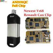 2017 Newest V168 Renault Can Clip Full Chip CYPRESS AN2131QC OBDII Professional Diagnostic Tool CAN Clip For Renault Scanner