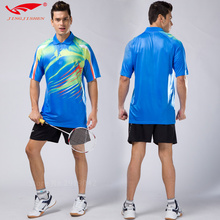 high quality badminton shirt breathable badminton wear sets for Men , table tennis clothes , Gym Sportswear Quick Dry uniforms(China)