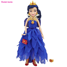 11''Original fashion Princess doll Accessor cheap Descendants multi joint girl plastic dolls Toys Mermaid Snow White Cinderella