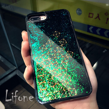 Bling Glitter Flowing Liquid Tetris Hard Case For iPhone 7 6 6S Plus Phone Cover For iPhone 6 7 6S Back Capa qian(China)