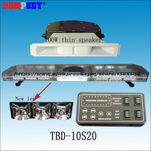 TBD-10S20 LED Emergency Warning Lightbar,New Len,Red/amber/white,fire truck/police/ vehicle,Roof strobe warning lightbars(China)