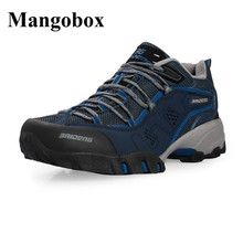 Trekking Shoes Men Outdoor Shockproof Mens Boots Military Wearable Mens Outdoor Athletic Shoes Grey/Brown Hiking Men Boots
