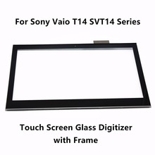 Touch Screen Digitizer Glass Lens Replacement Part with Frame For Sony Vaio T14 SVT14 Series SVT141A11U SVT14125CLS SVT14127CLS