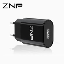 Buy ZNP USB Charger, Mobile Phone EU Charger Plug Travel Wall Charger Adapter iPhone 8 7 Xiaomi Phone Charger Samsung S8 for $2.39 in AliExpress store