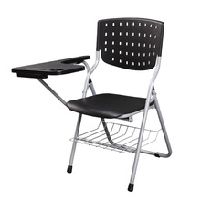 Modern Office Furniture Portable Folding Staff Training Conference Chair With Writing Board Student Learning Computer Chair(China)