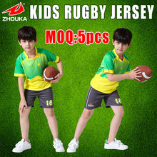 OEM rugby jersey any color,name,number,short sleeve,full sublimation custom,boys rugby jersey,100%polyester(China)