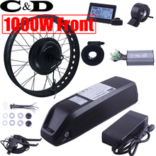 Lithium Big Kettle battery Fatbike 1000W 48V 10.4AH Front XF40 30H Motor MXUS Electric Bike Conversion Kit LCD5 3 6 LED880(China)