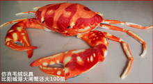 middle size lovely crab toy plush sea crab doll red crab toy gift about 63cm