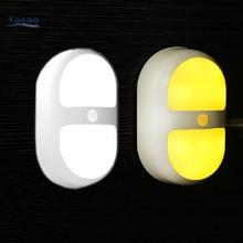 Bedroom Decoration Motion Sensor LED Night Light Battery Powered Wall Path Lamp Perfect for Bathroom Basement Laundry