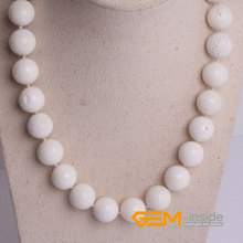 8mm 10mm 12mm natural white coral necklace natural coral necklace DIY jewelry for gift Yoga Meditation necklace free shipping