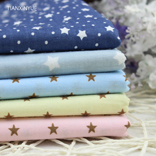 5pcs/lot 40cm*50cm Star fabric Printed Cotton Fabric for Home Textile Bedding Quilting Tissue sewing Patchwork(China)