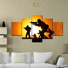 3-4-5 Pieces Soldiers on Mission Wall Art Canvas Painting Art Print Picture Frame Modern Pictures for Living Room(China)