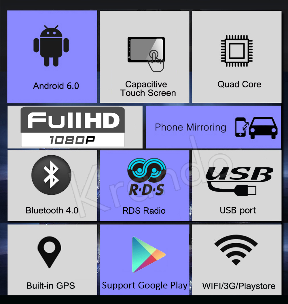 krando android 6.0 car dvd player