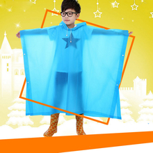 Children Raincoat Student Rainwear Kids Poncho Translucent Non-disposable Rain Gear Jelly Glue EVA Material Camp Tourism No odor