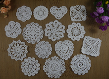 Handmade Crochet Doilies Table Decoration & Accessories Placemats Mats & Pads Home Wedding table decorations -30PCS/LOT(China)
