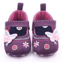 Baby Shoes Girls First Walker Butterfly Soft Sole Toddler Pre walker Shoes Primer Walker Non Slip(China)