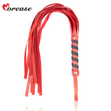 Buy Morease Red Leather Flirt Flogger Spanking Whip Slave Bondage Couple Women Sexy Erotic Sex Toy Adult Game Fetish BDSM Tool