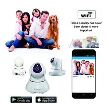 720P PTZ Wireless WiFi IP Camera IR-CUT Support 128GB SD Card Mobile Phone or PC Recording Smart Home Security Wifi IP Camera(China)