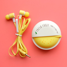 Cute Fruit Candy Colorful Earphones 3.5mm in-ear ith Microphone for Phone Lenovo Xiaomi Girls Kid Child Student for MP3 Gifts(China)