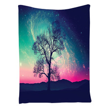 Nebula Orbital Tree Pattern, Bedroom Living Kids Girls Boys Room Dorm Accessories Wall Hanging,100*150cm Photo Color(China)