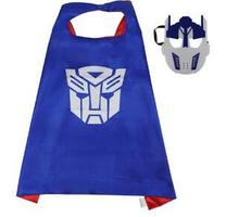 children transformer cape +mask sets bumblebee  party birthday halloween gift