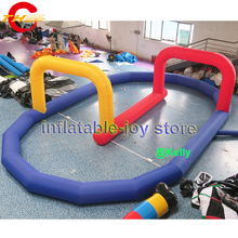 Free air shipping inflatable air track for sale, commercial inflatable go kart track, cheap air inflatable track for car race(China)