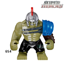 Educational Blocks Hulk Loki Figures Marvel Avengers Super Hero Star Wars Model Action Bricks Kids DIY Toys Hobbies Gift XH654