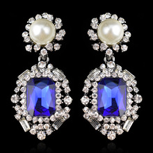 Brincos Ohrringe Phone 3pair wholesale USA style Bohemia Earring D-776 Mixcolors CA  Pearl BLUE gem Earrings  for women jewelry