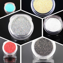 Small Gravel NS2NR2 Glitter Nail Art Dust Tool Kit Acrylic Gem Polish Nail Tools 3D Nail Art Decorations Nail Glitter Powder(China)