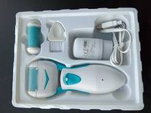 Rechargeable Electric Foot Pedicure Machine  Dead Skin Callous Remover Feet Care Tools+2 Replacement Heads+USB Feet Skin Care
