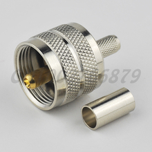 RF electrical wire terminal UHF Male Plug Crimp straight connector for coaxial cable RG58 RG142 RG400 LMR195