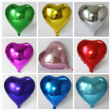 Good 10pcs 18inch Colorful Heart shape Mylar Balloons Party Decoration Air Ballons Wedding birthday Foil globos Helium baloes