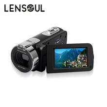 lensoul Portable 2.7 Inch HDV-312P Digital Video Camera Camcorders DV Rotating LCD Screen Digital Camera EU/US/UK Plug